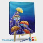 Jellyfish Blue Background