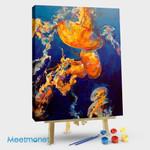 Orange jellyfish #1