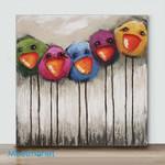 Mini - Five Colored Chicks(Already Framed Canvas)