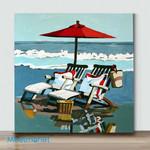 Mini - Facing the sea 05(Already Framed Canvas)
