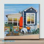 Mini - Facing the sea 03(Already Framed Canvas)