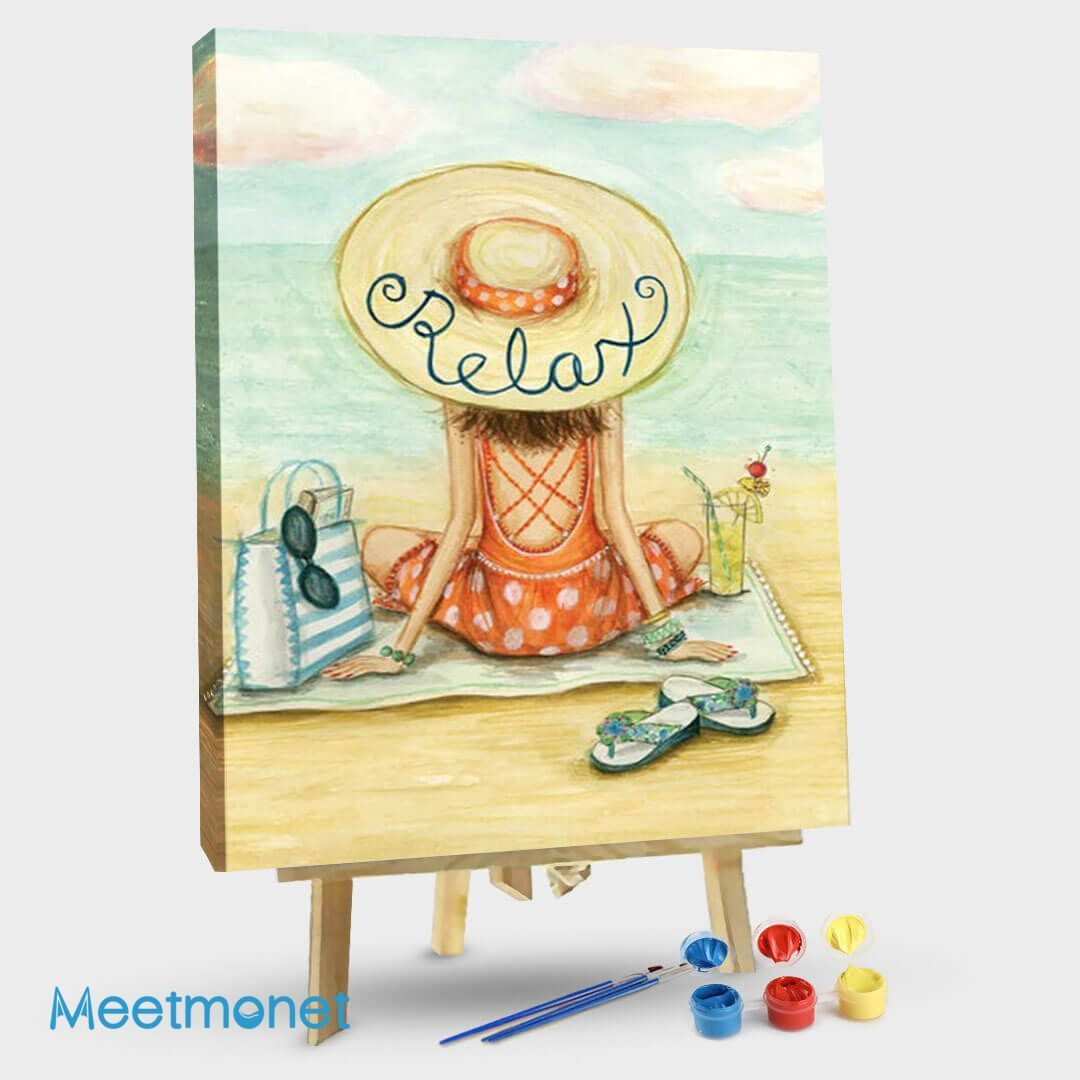 Relaxing On Beach Relax Hat
