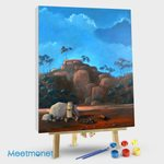 Landscape with Ned Kelly and His Dog