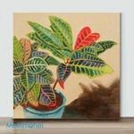 Mini – Colorful Croton(Already Framed Canvas)
