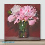 Mini – Punctual Peonies(Already Framed Canvas)