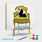 Panda on the sofa