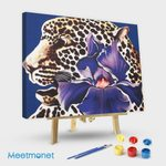Spotted Leopard and Iris