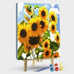 THE SKY VERTICAL SUNFLOWERS
