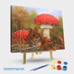 Hamster and mushroom