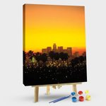 Downtown Skyline At Sunset I, Los Angeles, California, USA