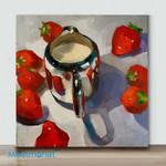 Mini – Strawberry and cream(Already Framed Canvas)