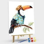 Summer Toucan In Hawaiian Shirt