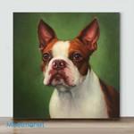 Mini – Turbo,. Boston terrier(Already Framed Canvas)