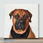 Mini – Dog (Boxer). Framed(Already Framed Canvas)