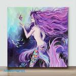 Mini – Mermaid Oil Painting Canvas(Already Framed Canvas)