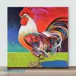 Mini – Colorful Chicken#1(Already Framed Canvas)