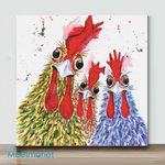 Mini – Chicken Brother(Already Framed Canvas)