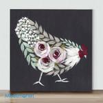 Mini – Colorful Chicken#7(Already Framed Canvas)