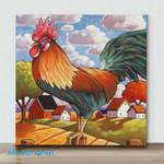 Mini – Colorful Chicken#8(Already Framed Canvas)
