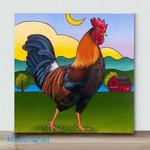 Mini – Colorful Chicken#9(Already Framed Canvas)
