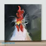 Mini – Abstract Chicken(Already Framed Canvas)
