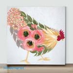 Mini – Colorful Chicken#6(Already Framed Canvas)