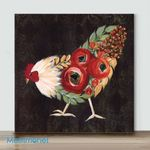 Mini – Colorful Chicken#5(Already Framed Canvas)