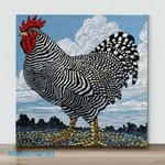 Mini – vBlack And White Chicken(Already Framed Canvas)