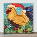 Mini – Chicken In Red Hat(Already Framed Canvas)