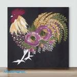 Mini – Colorful Chicken#4(Already Framed Canvas)