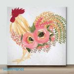Mini – Colorful Chicken#3(Already Framed Canvas)
