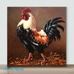 Mini – Colorful Chicken#2(Already Framed Canvas)