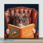 Cat On The Sofa#2– Mini Paint by Number Kits (Already Framed Canvas)