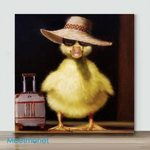 Duck In Travel– Mini Paint by Number Kits (Already Framed Canvas)