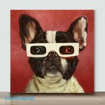 3D Dog– Mini Paint by Number Kits (Already Framed Canvas)