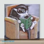 Cat On The Sofa#1– Mini Paint by Number Kits (Already Framed Canvas)