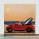 Little Mouse Driving– Mini Paint by Number Kits (Already Framed Canvas)