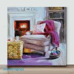Mini – By the Fireplace(Already Framed Canvas)