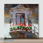 Mini – Sunny Balcony(Already Framed Canvas)