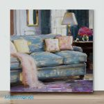 Mini – Soft Pink and Blue(Already Framed Canvas)