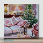 Mini – Awaiting Christmas(Already Framed Canvas)
