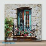 Mini – Sunny Balcony 1(Already Framed Canvas)png