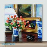 Mini – Table Top Tulips(Already Framed Canvas)
