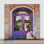 Mini – The Purple Doors(Already Framed Canvas)