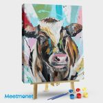 Cow with pastel colors