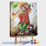 Clown and cat