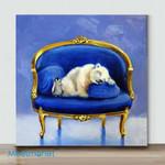 Mini-sleepy blue sapphire(Already Framed Canvas)