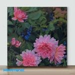 Mini – Garden in the Pink(Already Framed Canvas)