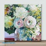 Mini – A little white flower 4(Already Framed Canvas)