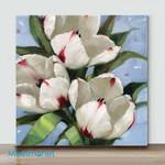 Mini – A little white flower 1(Already Framed Canvas)